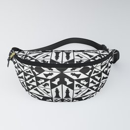 Chess Pieces Geometric Ornament Fanny Pack