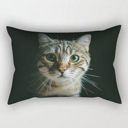 Portrait of a Cat Rectangular Pillow
