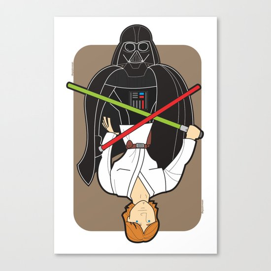 Darth Vader and Luke Canvas Print