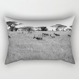 Impala in the grass Rectangular Pillow