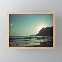 Green sunset Framed Mini Art Print