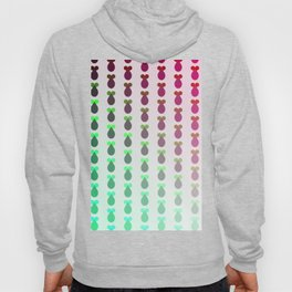 Red to green ombre rocket-shaped vegetables Hoody