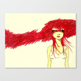 Red Target Canvas Print