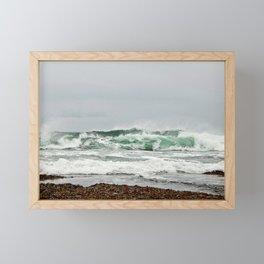 Explosive Green Surf of the St-Lawrence Framed Mini Art Print