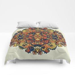 Orange Indian Mandala Comforters