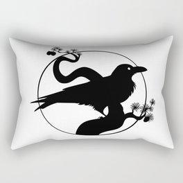 Raven Silhouette I Rectangular Pillow