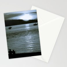 watching the sun set Stationery Cards