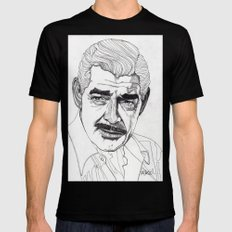 Clark Gable Black X-LARGE Mens Fitted Tee
