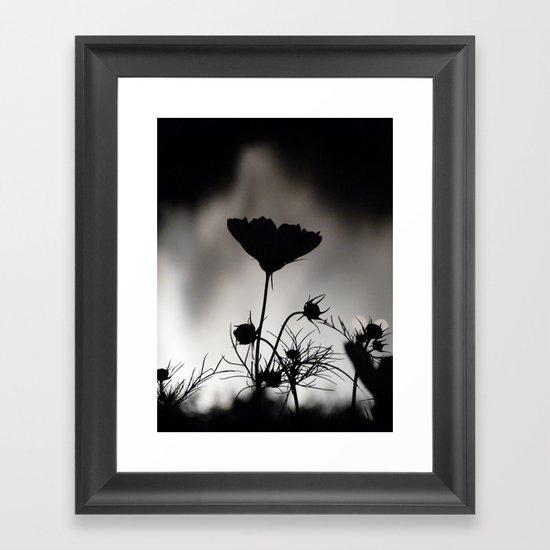 Flower in black and white Framed Art Print