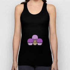 Cute Monster With Purple Frosted Cupcakes Unisex Tank Top