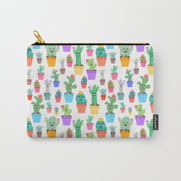 Sunny Happy Cactus Family Carry-All Pouch