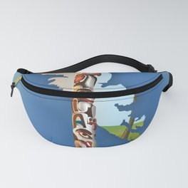 haida gwaii British Columbia map Fanny Pack