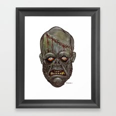 Heads of the Living Dead Zombies: Man Made Zombie Framed Art Print