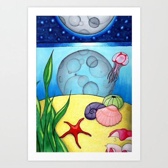 Underwater Reflections Art Print