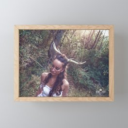 Horned Goddess Framed Mini Art Print