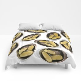 Delightful Deli Pickle Pattern From New York City Comforters
