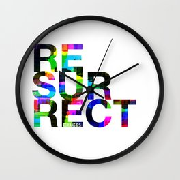 Resurrect. Romans 6:5 Wall Clock