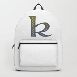 Celtic Knotwork Alphabet - Letter K Backpack