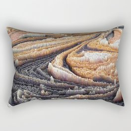 Abstract Topography - Coffee Rectangular Pillow