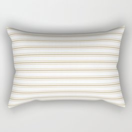 Large Christmas Gold and White Mattress Ticking Stripes Rectangular Pillow