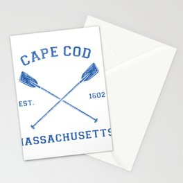 Womens Vintage Cape Cod Vacation V-Neck Gift Stationery Cards