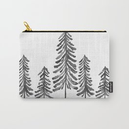 Pine Trees – Black Ink Carry-All Pouch