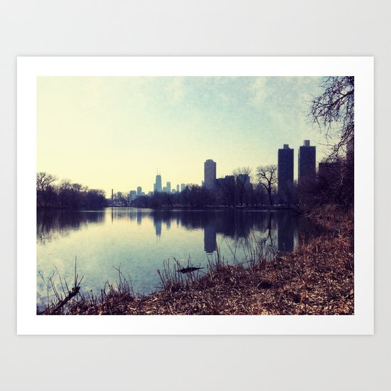 Chicago Reflected Skyline From The North Art Print