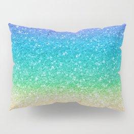 Rainbow Glitter Pillow Sham