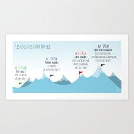 Ski slope Art Print
