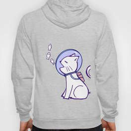 Space cat and floating fish Hoody