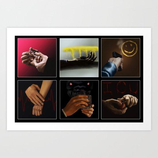 Sherlock - Hands Art Print