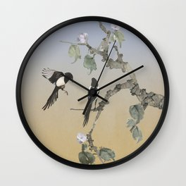 Magpies Wall Clock