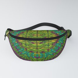 Butterfly flower jungle and full of leaves everywhere Fanny Pack