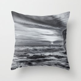 Sea storm approaching Throw Pillow