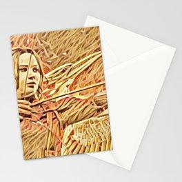 Hunger Katniss Artistic Illustration Matches Style Stationery Cards