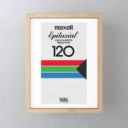 MAXELL VHS Framed Mini Art Print