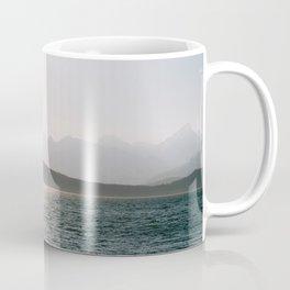 Foggy mountains in Tromsø, Norway || Fine art travel photography pastel scandinavian minimalistic Coffee Mug