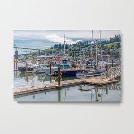 Astoria Oregon Marina Metal Print