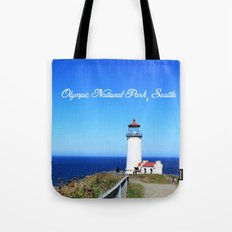 Lighthouse at Olympic National Park seaside, Seattle.  Tote Bag