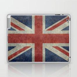 England's Union Jack, Dark Vintage 3:5 scale Laptop & iPad Skin