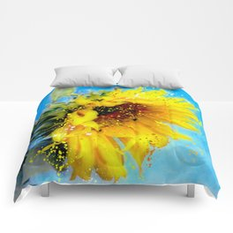 Essence of a Sunflower by Barbara Chichester 2016 Comforters