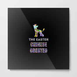 Chinese Crested gifts | Easter gifts | Easter decorations | Easter Bunny | Spring decor Metal Print