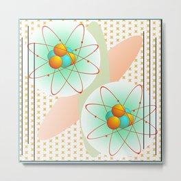 Mid-Century Modern Art Atomic 1.0 Metal Print