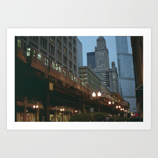 Streets of Chicago Art Print