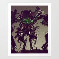 Mecha Titan Tremor Art Print