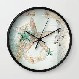 Summer Sea Treasures Beach Wall Clock