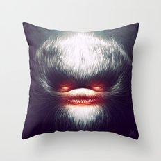 Furry Smile Throw Pillow