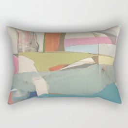 """""""tidal pool"""" abstract art in turquoise, cream, white, orange and pink by Rectangular Pillow"""