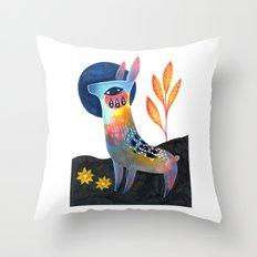 Meadow Donkey Throw Pillow