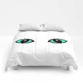 Cats Eyes White Comforters